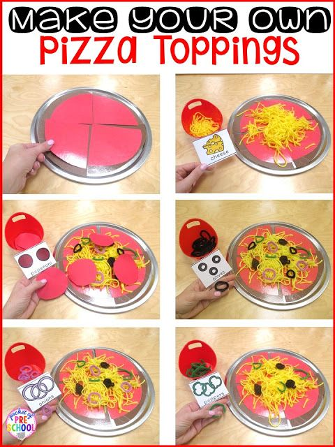 Pizza Restaurant Dramatic Play--Let ts help make materials
