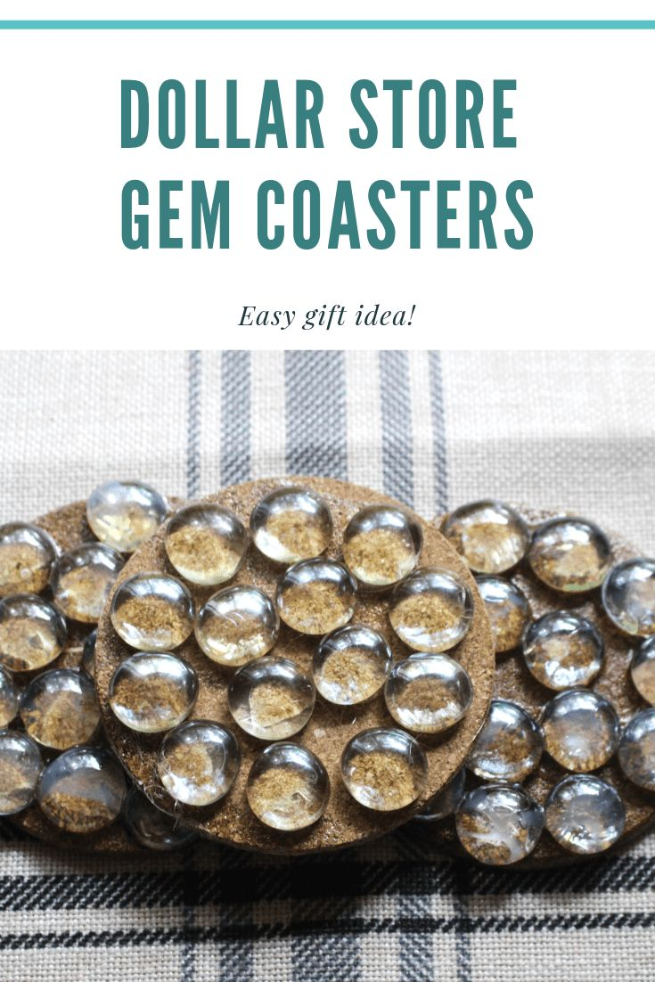 Quick And Easy Dollar Store Glass Gem Coasters