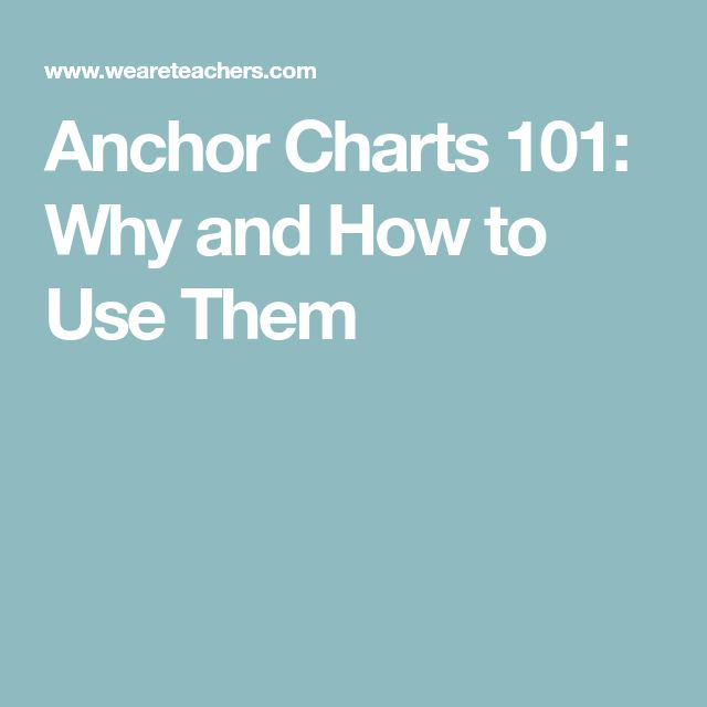 Anchor Charts 101: Why and How to Use Them