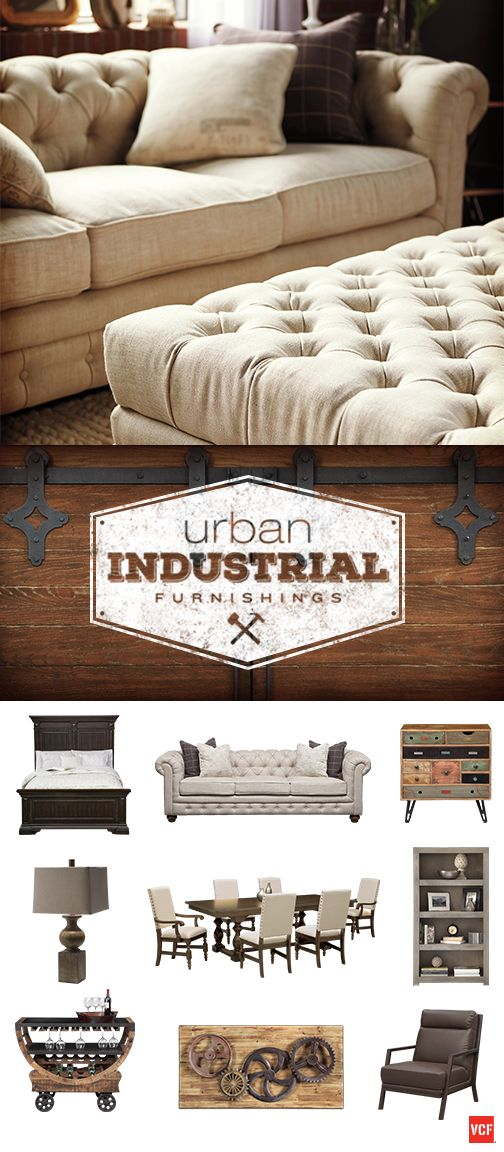Create a show-stopping urban industrial style in your space whether you live in the city or the suburbs. Only at Value City Furniture!
