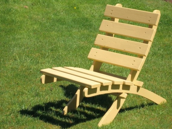 Wooden Outdoor Lounge Chair for Garden Deck by laughingcreekprod, $129.00