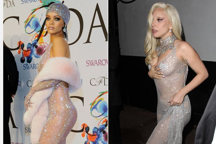 Did Rihanna inspire Gaga's see-through dress? | New York Post