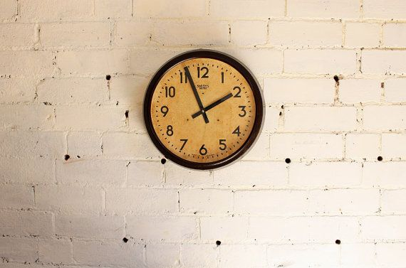 15 1940s Smiths Sectric Industrial Wall Clock By Midmodi