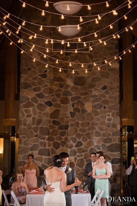 Bistro lighting is always a good call. Oak Brook Bath and Tennis Club Weddings West Chicago.