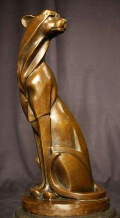 Art Deco, wild cat