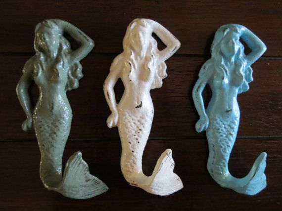 ON SALE TODAY Mermaid Hook Set /White green and by VeritasInspired