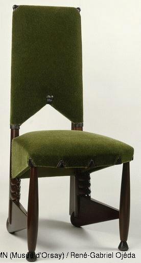 Michel De Klerk,Dining chair,© RMN (Musée d'Orsay) / René-Gabriel Ojéda