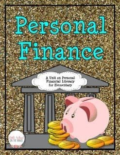 Personal Financial Literacy for Elementary Students- FREE!!