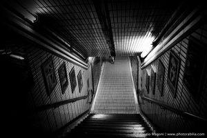 GLOOM #tottenhamcourtroad #underground #station #london #central #photography #street #nikon #picture #doom #stairs #dark #darkness #gloom