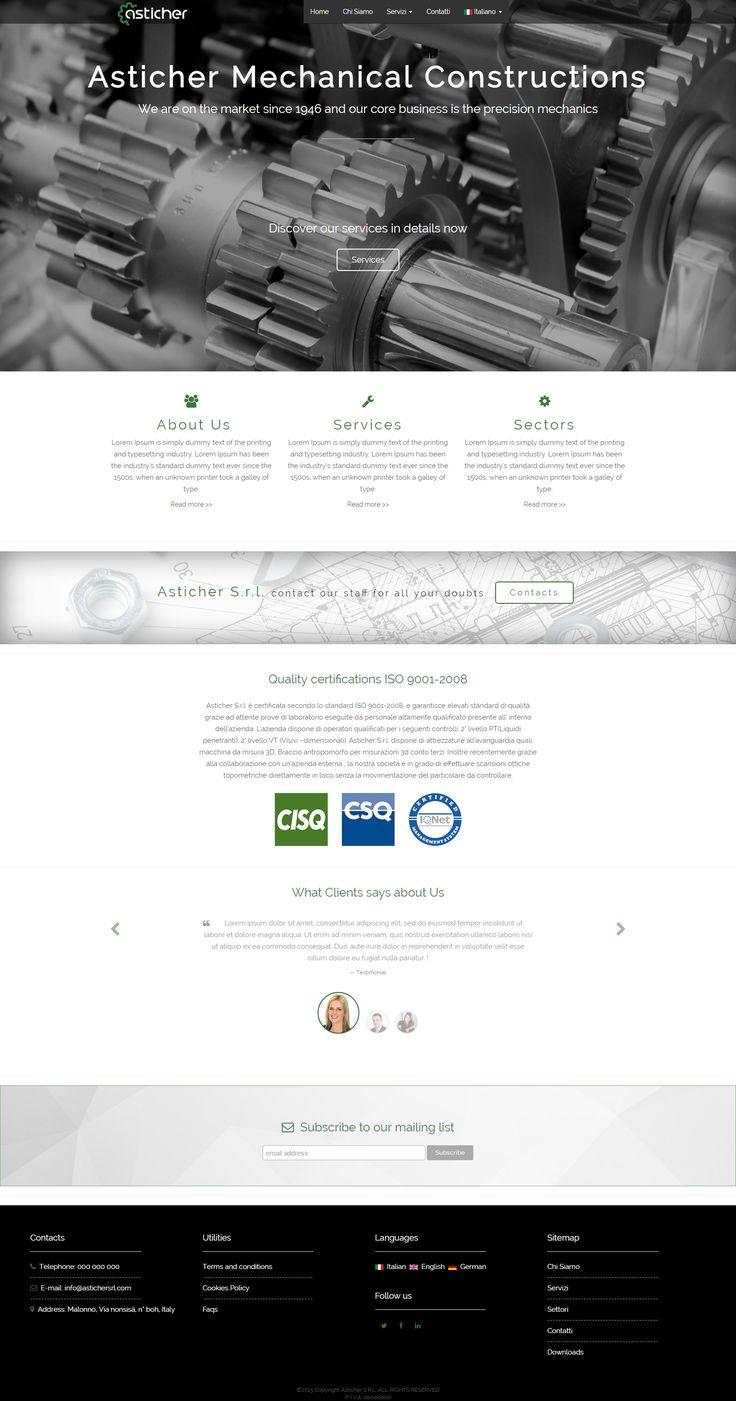 Web design project for Asticher s.r.l