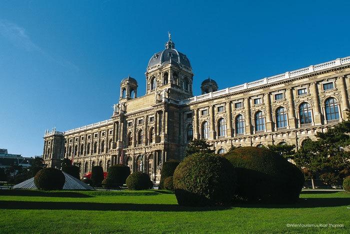 Frontansicht auf das Kunsthistorische Museum Wien