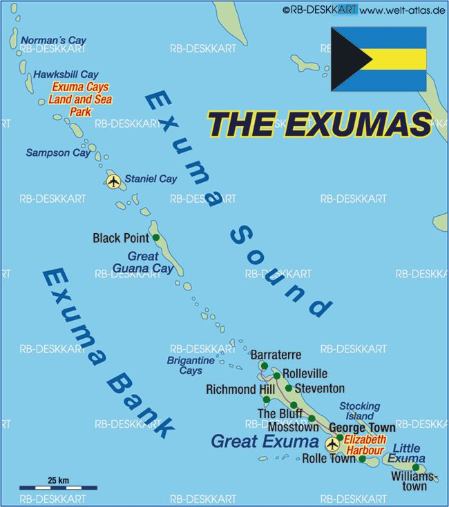 Lodging Exuma Cays Great Little Islands And: Map Of Little Exuma Bahamas At Usa Maps