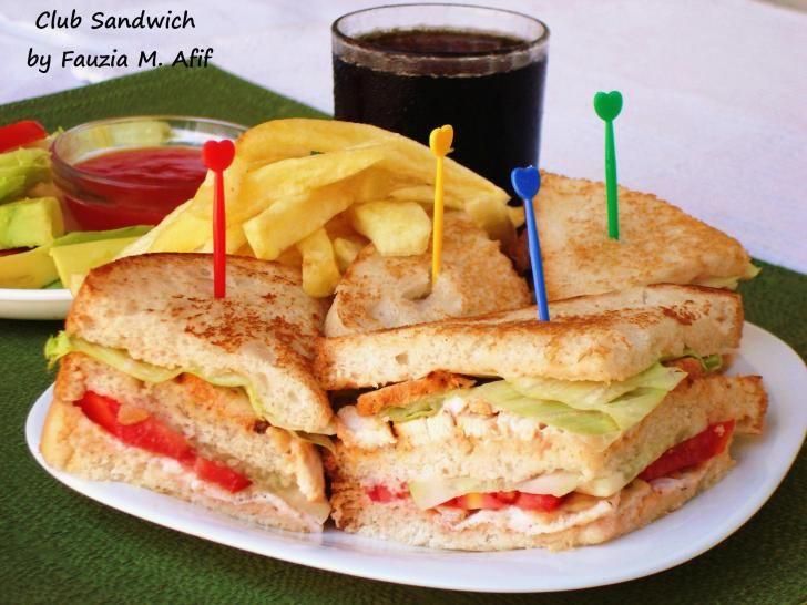 Club sandwich fauzia 39 s kitchen fun burgers for Club sandwich fillings for high tea