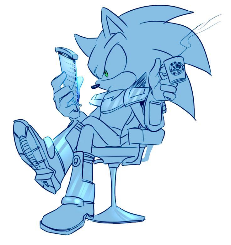 twitter by lujji.deviantart.com ...hipster Sonic?