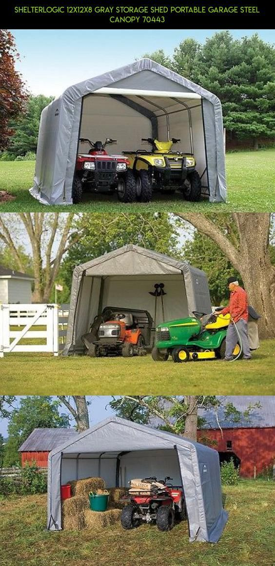 ShelterLogic 12x12x8 Gray Storage Shed Portable Garage Steel Canopy 70443 #racing #products #drone #parts #fpv #kit #12x12 #gadgets #shopping #tech #technology #storage #plans #camera #PortableShedPlan