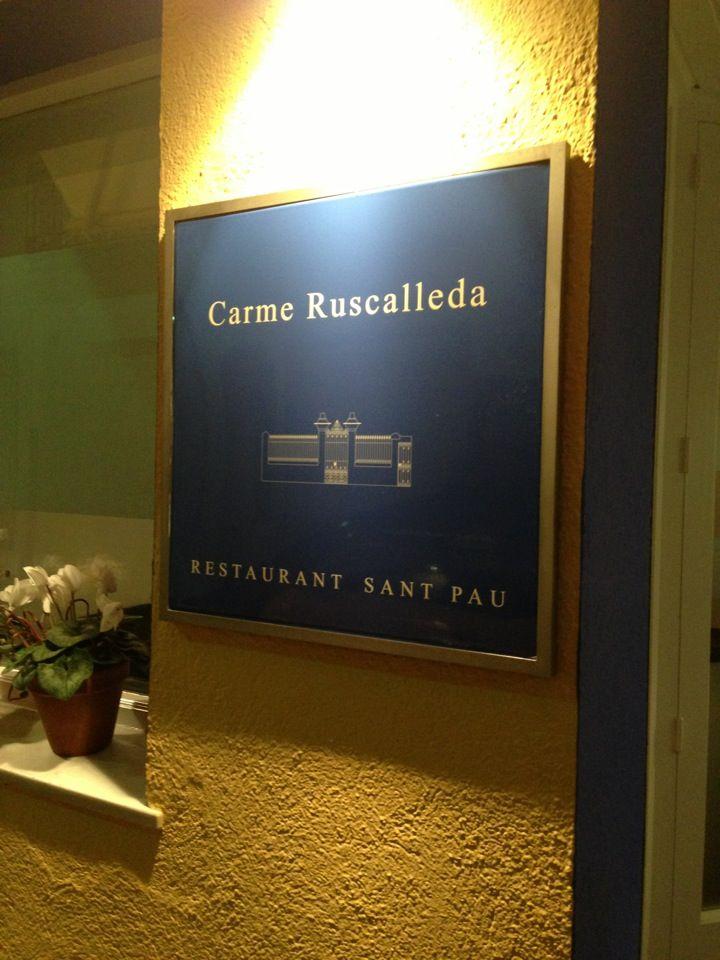 Restaurante Sant Pau. 3 estrellas Michelin.