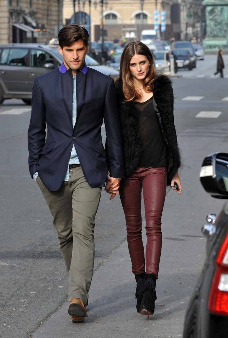 Dear Olivia Palermo, can I please have your closet?? In love with these oz blood leather skinnies!