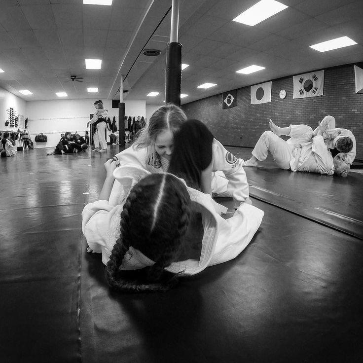 Leyla started a new Judo class today. Already making friends. #judo #juijitsu #gopro #martialarts #monochrome #lrmobile #akfcrystallake #crystallake