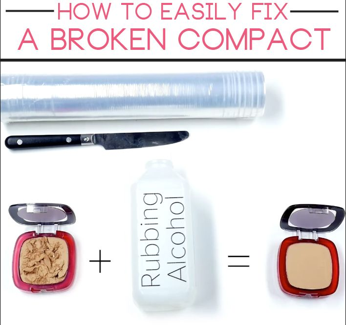 You're makeup isn't ruined forever! Here's how to fix a broken compact in just a few steps.