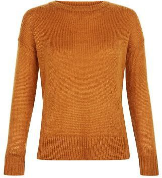 Womens windsor tan petite tan boxy jumper from New Look - £7.99 at ClothingByColour.com