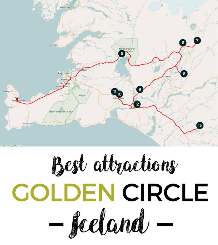 Best attractions by the Golden Circle in Iceland. #FreeTravelGuides