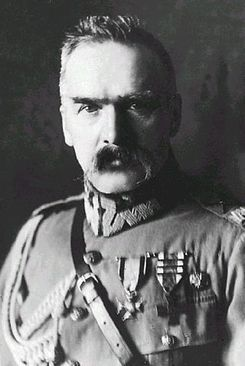 """Józef Klemens Piłsudski was a Polish statesman; Chief of State (1918–22), """"First Marshal of Poland"""" (from 1920), and de facto dictator (1926–35) of the Second Polish Republic, Minister of Military Affairs. From mid-World War I he had a major influence in Poland's politics, and was an important figure on the European political scene. He was the person most responsible for the creation of the 2nd Rep.of Poland in 1918, 123 years after it had been taken over by Russia, Austria and Prussia."""