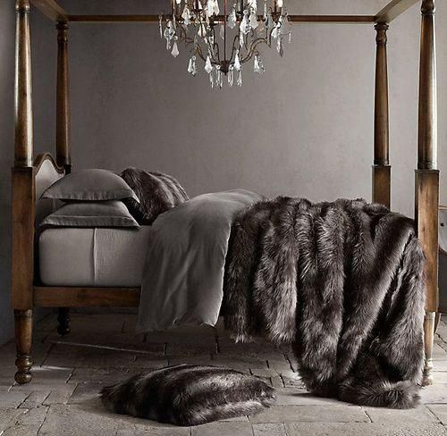 Don't be afraid to use faux fur to give your space a luxurious, sensual vibe. Just keep it classy and skip the garish cheetah and leopard prints.