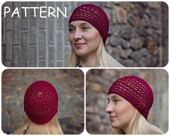 Crochet Hat Written Pattern Lace Hat For Women Crochet Graph