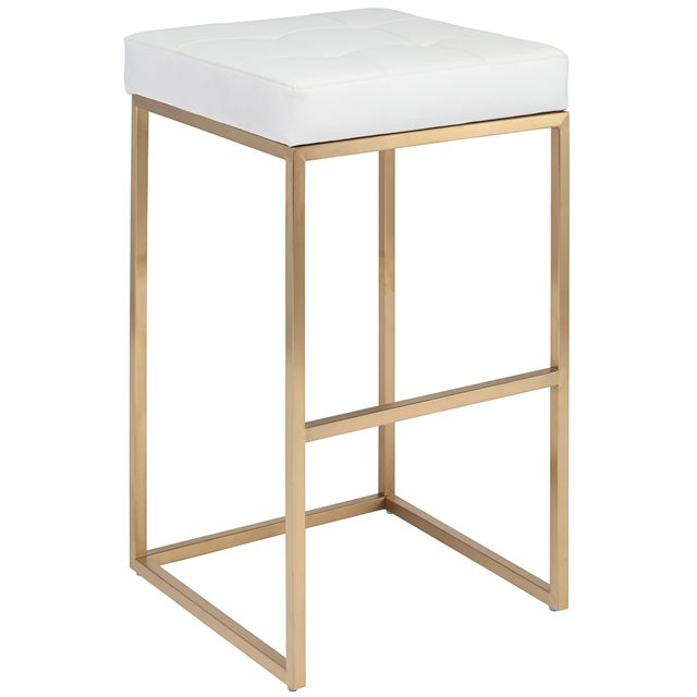 Nuevo Chi White And Gold Bar Stool 45p Pinterest
