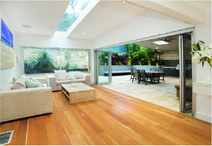 Beacon Hill renovation & extensions by Sydney Beach Homes - living room