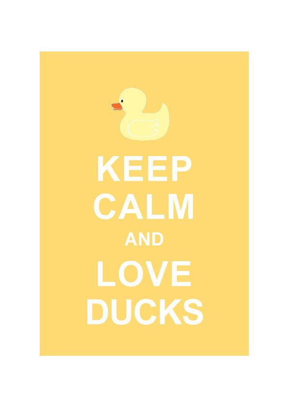 Keep Calm and Love Ducks : Pastel Yellow / Children art / KIds room decor / Bathroom decor / BUY 2 Get 1 Free. $10.80, via Etsy.