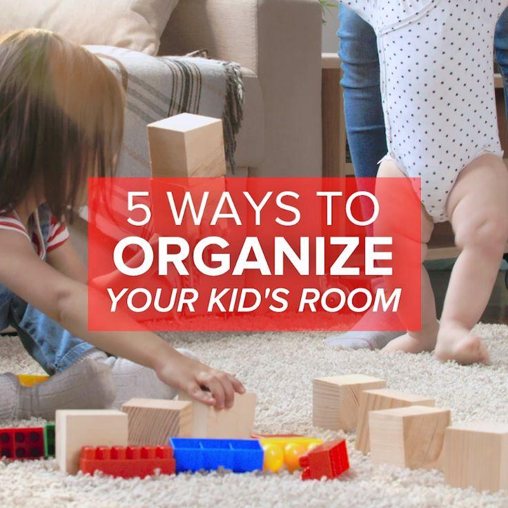 5 Smart Ways To Organize Your Kid's Room // #organization #organize #kids