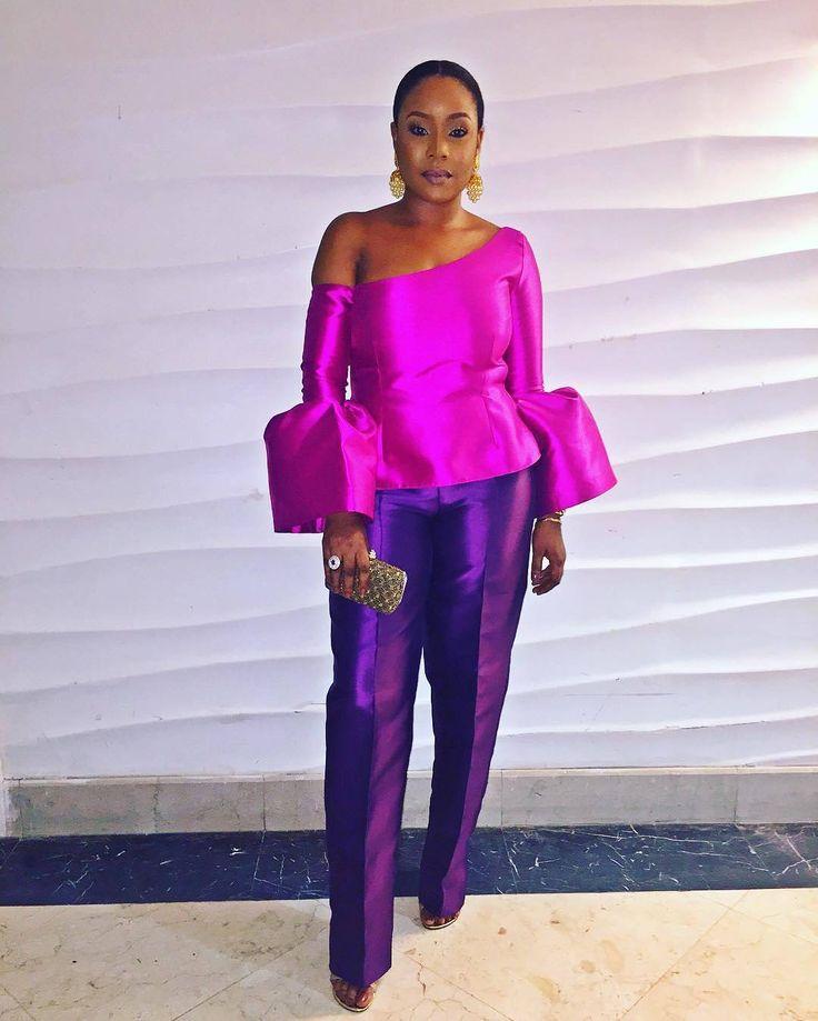 "355 Likes, 5 Comments - BellaNaijaStyle (@bellanaijastyle) on Instagram: "" That Purple Glow! TV personality @MimiOnalaja in @ImadEduso_"""