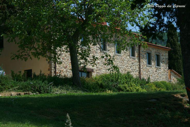 Stones wall of Villa Poggio dei Cipressi #Tuscany #Landscape near #Arezzo in #Casentino region