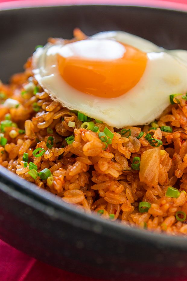 Incredibly flavorful kimchi fried rice recipe takes only 10 minutes to make. Spicy and  delicious!