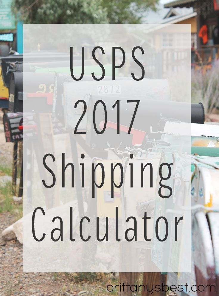 Shipping calculator for new January 2017 USPS rates. Easily select service, weight and destination to see rates. Based on commercial base (online) pricing.