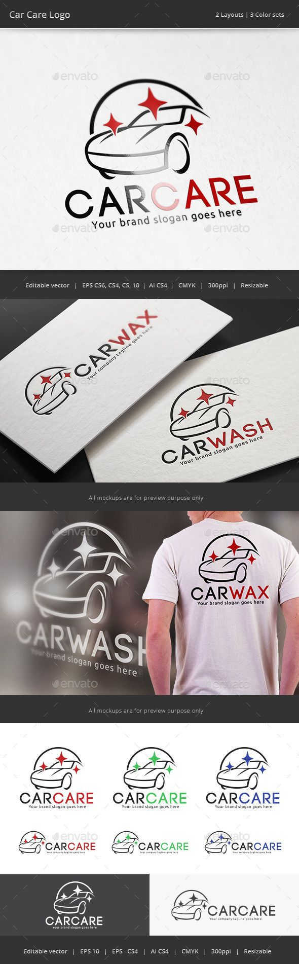 Car Care Logo 명함