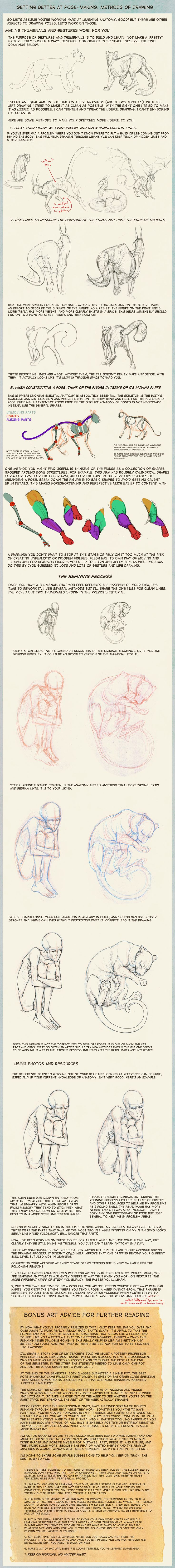 Poses: methods of drawing by hibbary.deviantart.com on @deviantART ✤ || CHARACTER DESIGN REFERENCES | 解剖 • علم التشريح • анатомия • 解剖学 • anatómia • एनाटॉमी • ανατομία • 해부 • Find more at https://www.facebook.com/CharacterDesignReferences & http://www.pinterest.com/characterdesigh if you're looking for: #anatomy #anatomie #anatomia #anatomía #anatomya #anatomija #anatoomia #anatomi #anatomija #animal #creature || ✤