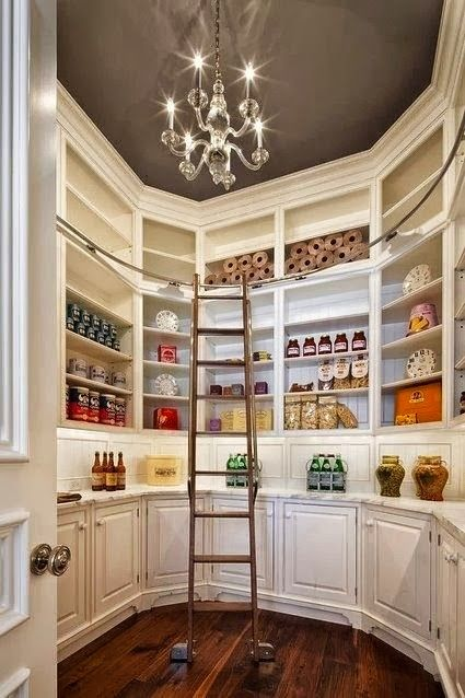 Walk in pantry for all my cooking and baking ingredients plus appliance storage