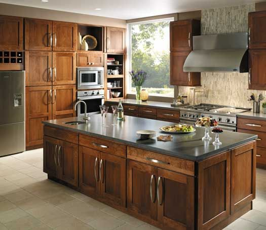 Fieldstone Cabinetry Milan Door Style In Cherry Finished