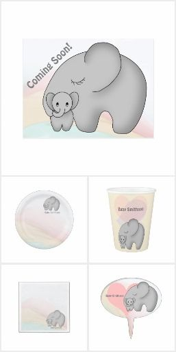 Adorable Baby Elephant Shower theme!