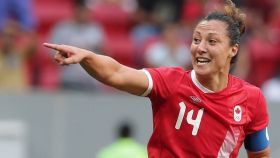 Melissa Tancrediled Canada to a 2-1 upset win over Germany inOlympic women's football group stage play on Tuesday. The win...