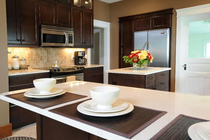 21 best images about dark wood kitchen cabinets on pinterest for Best thing to line kitchen cabinets