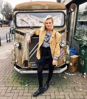 Weekend chic 👌🏼 @pandorasykes wears our flatform brogue Chelsea boots PACEY ✔️ #dunelondon #aloveaffairwith #chelseaboots #flatformboots #chic #weekend