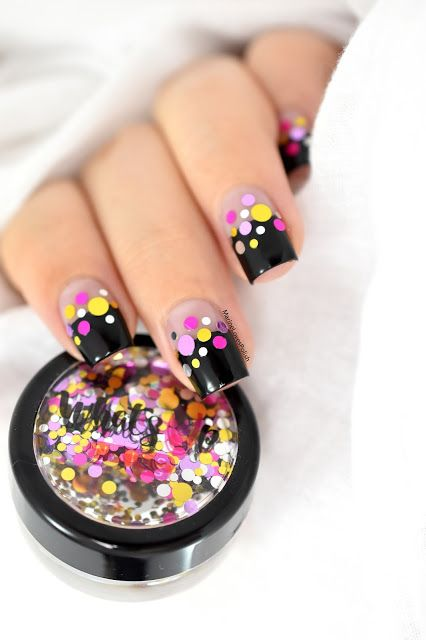 What's Up Nails Icing Confetti - carnival nail art - festive nails - negative space - glitter