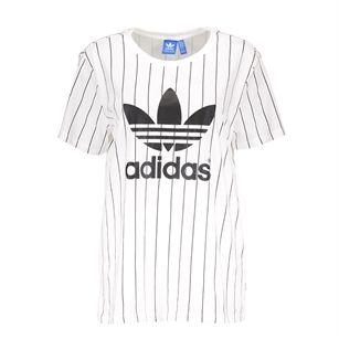 Adidas Boyfriend trefoil tee oversized, White, medium