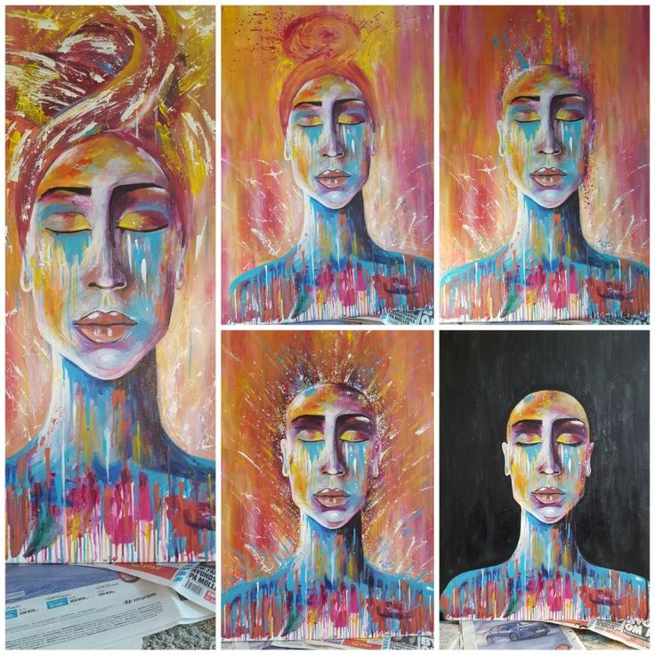 5 different outloks of the same painting.. never happy 😶