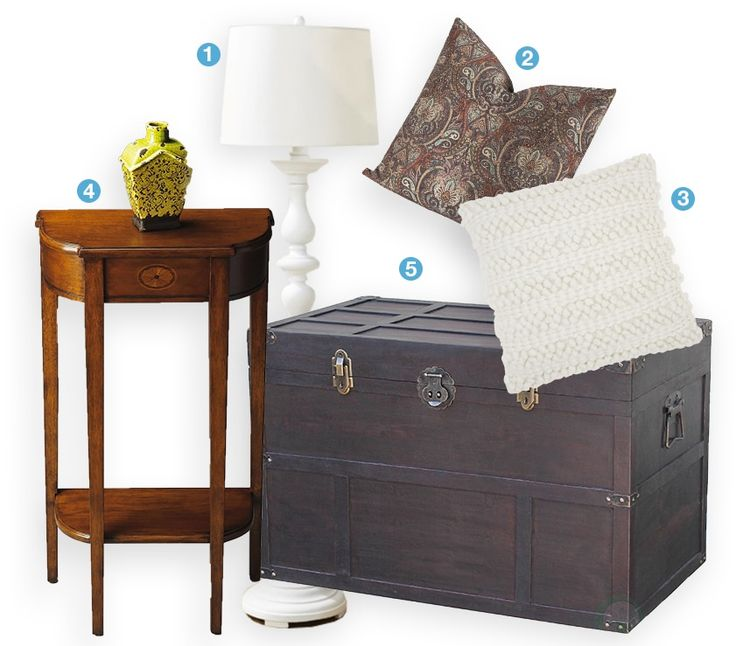 Embrace the casual comfort of a timeless transitional style. Transitional decor marries traditional with contemporary styles, featuring simple yet sophisticated silhouettes that are complemented by a rich, inviting color scheme. Mix textures and prints like chunky knit throw blankets and paisley print pillows to add visual complexity to the space, and then tie in classic accents like a trunk coffee table, wooden side table, and antiqued lamp to complete the look.
