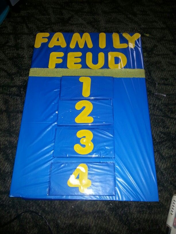 how to make a homemade family feud game