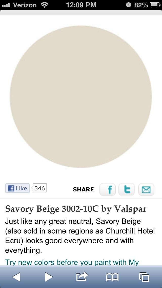 Paint Colour Savory Beige 3002 10c By Valspar Home